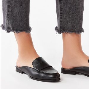 URBAN OUTFITTERS | Jules Leather Loafer Mules 7